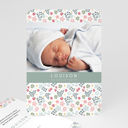 Faire-Part Naissance Fille - Liberty Baby 49263
