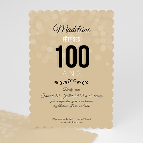 Invitation Anniversaire Adulte - 100 ANS ! 49269