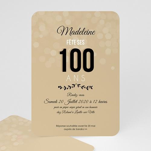 Invitation Anniversaire Adulte - 100 ANS ! 49272