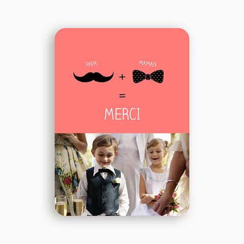 Tous les Remerciements Mariage - Oui familial 49329