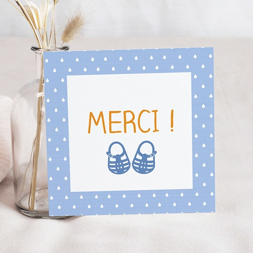 Carte Remerciements Naissance - Les sandales de plage 49412