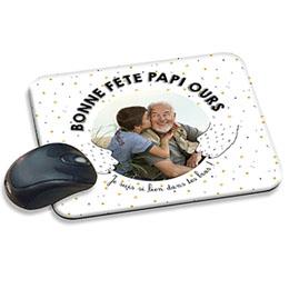 Tapis de souris personnalisé - Papi Ours - 0