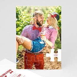 Faire-Part Mariage Personnalisés - Puzzle - 0