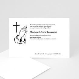 Remerciements Décès Chrétien - Mains en prière - remerciements deces - 3