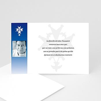 Remerciements Décès Chrétien - Dévotion bleue - 3