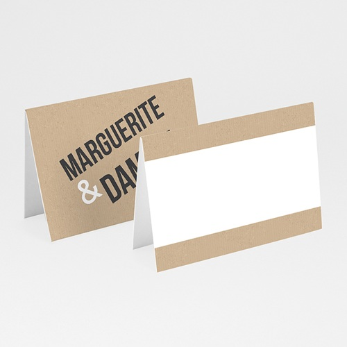 Marque Place Mariage - Alliances Fond Kraft 50545