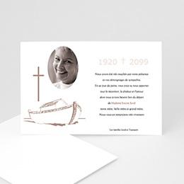 Remerciements Décès Chrétien - Barque de la foi - 3