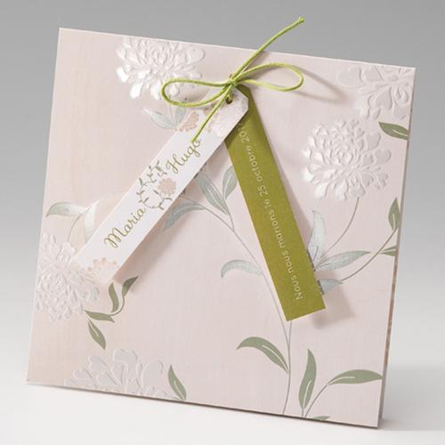Faire-Part Mariage Traditionnel - Douceur Florale 50815