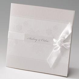 Faire-Part Mariage Traditionnel - Elegance florale - 2