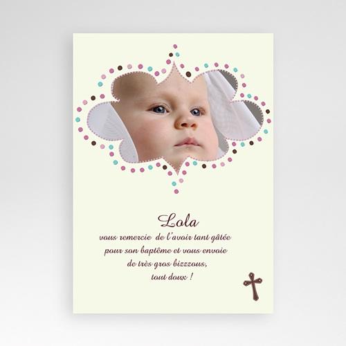 Remerciements Baptême Fille - Merci de Lola 509