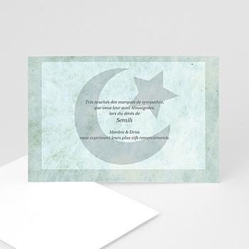 Remerciements Décès Musulman - Al mawt matkuba - carte décès - 3