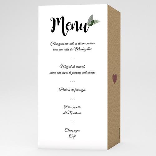 Menu de Mariage - Fleurs Vintage 51109