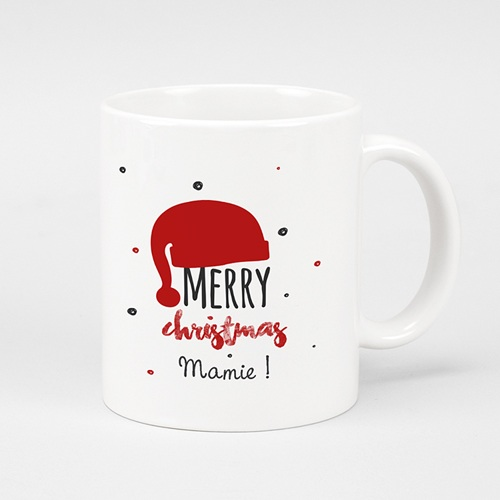 Mug Personnalisé - Bonnet du Père Noel 51117
