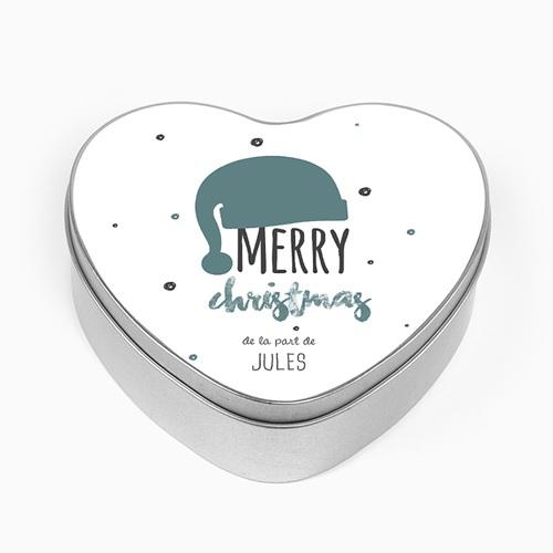 Boîte en métal personnalisée - Bonnet de Noël 51176