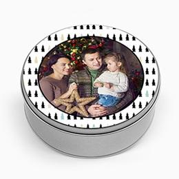 Boîte en métal personnalisée - Petits Sapins - 0