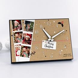 Horloge avec photo - Le temps de Noel - 0
