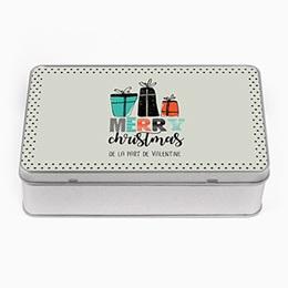 Boîte en métal personnalisée - Cadeaux de Noël - 0