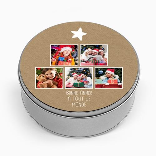 Boîte en métal personnalisée - Kraft & Photos 51315