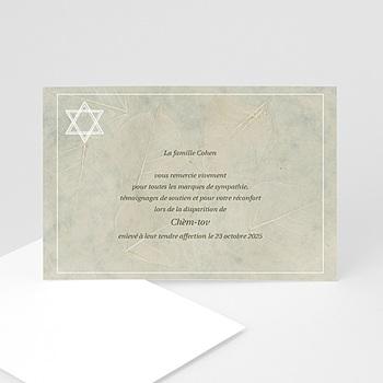 Remerciements Décès Juif - Bouclier de David gris - 3