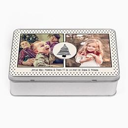 Boîte en métal personnalisée - Sapins & Petits Pois - 0