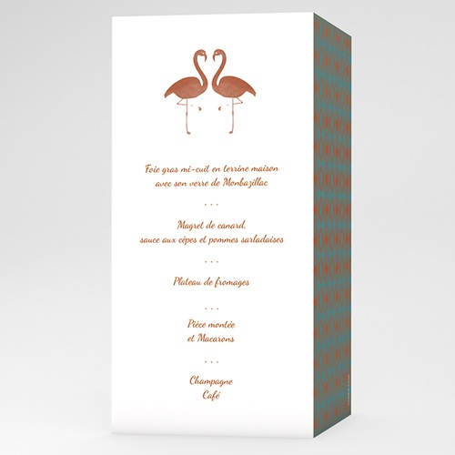 Menu de Mariage - Flamant Love 51451