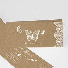 Faire-Part Mariage Personnalisés - Papillon Nature - 0