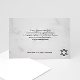 Remerciements Décès Juif - Matzevah - remerciement deces - 3