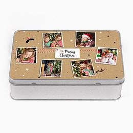 Boîte en métal personnalisée - Friandises de Noel - 0