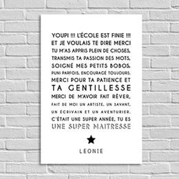 Poster personnalisé - Souvenir Instit - 0