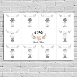 Poster personnalisé - Plan de Table Fleur - 0