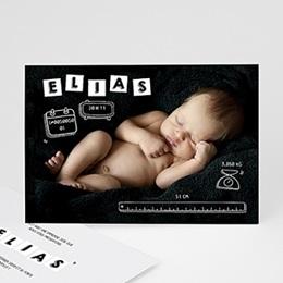 Faire-Part Naissance Garçon - Alphabet de bébé - 0