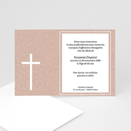 Remerciements Décès Chrétien - Carte souvenir granit 5253