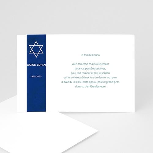 Remerciements Décès Juif - Etoile tekhélèth 5261