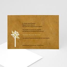 Remerciements Décès Chrétien - Colombe sur la brune - 3