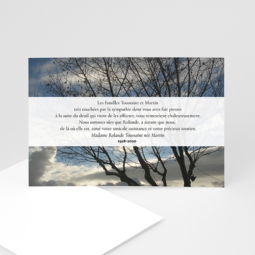 Remerciements Décès Universel - L'arbre de lumière 5325