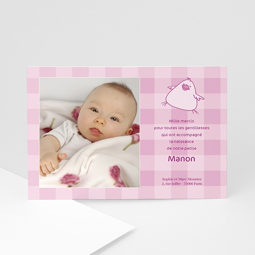 Remerciements Naissance Fille - Manon 5409