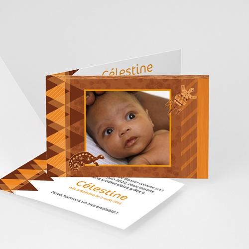Faire-part Adoption Fille - Pour Kôras et Balafons 5481