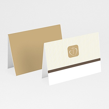 Marque-Place Communion - Communion, Profession de foi - beige - 3