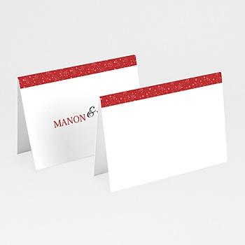 Marque Place Mariage Personnalisés - Multi-photos et coeurs rouges - 3