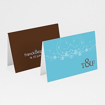 Marque Place Mariage Personnalisés - Chocolat et Turquoise - 3