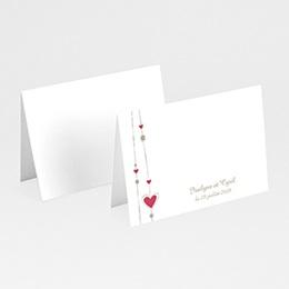 Marque Place Mariage Personnalisés - Mariage perles de coeurs - 3
