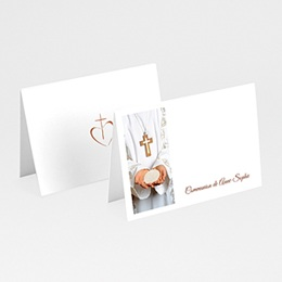 Marque-Place Communion - Communion, Profession de foi - beige - 3