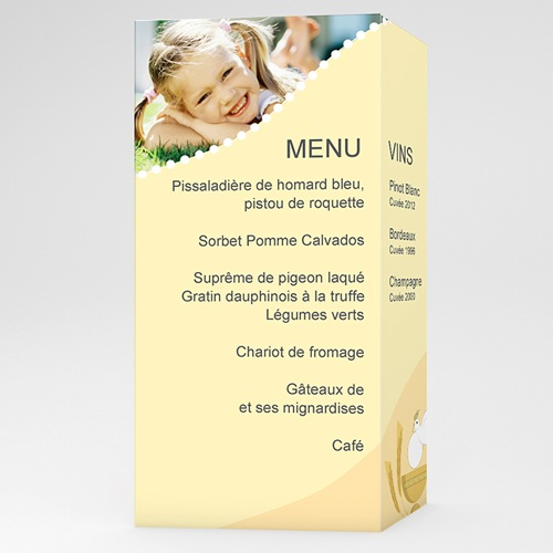 menu de communion communion menu jaune On modele menu communion