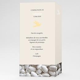 Menu de Communion - Première communion - 3