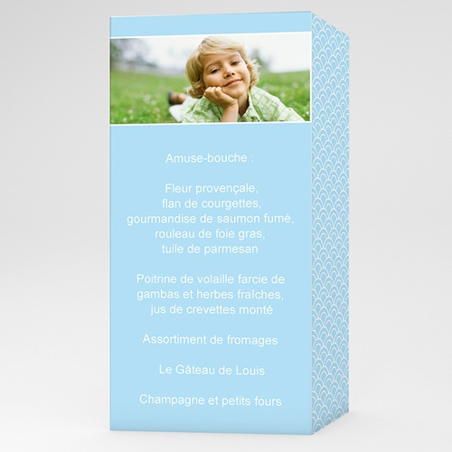 Menu de Communion - Solennelle - bleu 6499