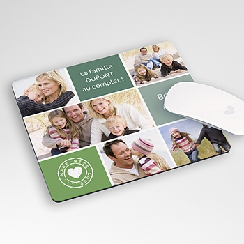 Tapis de souris personnalisé - Multi-photos - 2