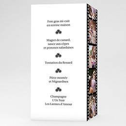 Menu Mariage Personnalisé - Modèle Cinéma - 3