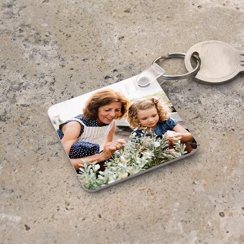 Porte clés personnalisés  - Porte-clefs carré Recto Verso 6796