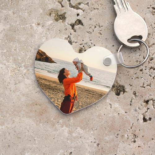Porte clés personnalisés  - Porte-clés Coeur 6848