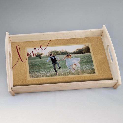 Plateaux personnalisés avec photos - Petit format fleurs rouges 6856